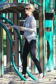 january jones joins instagram rides swings with xander 09