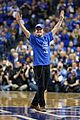 josh hutcherson gets greeted with district 12 salute at kentucky wildcats game 02