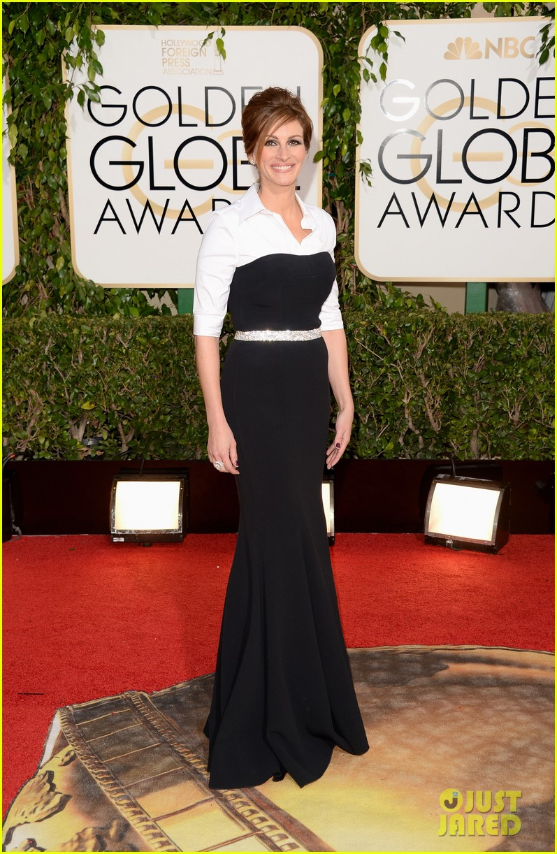julia roberts golden globes 2014 red carpet 04
