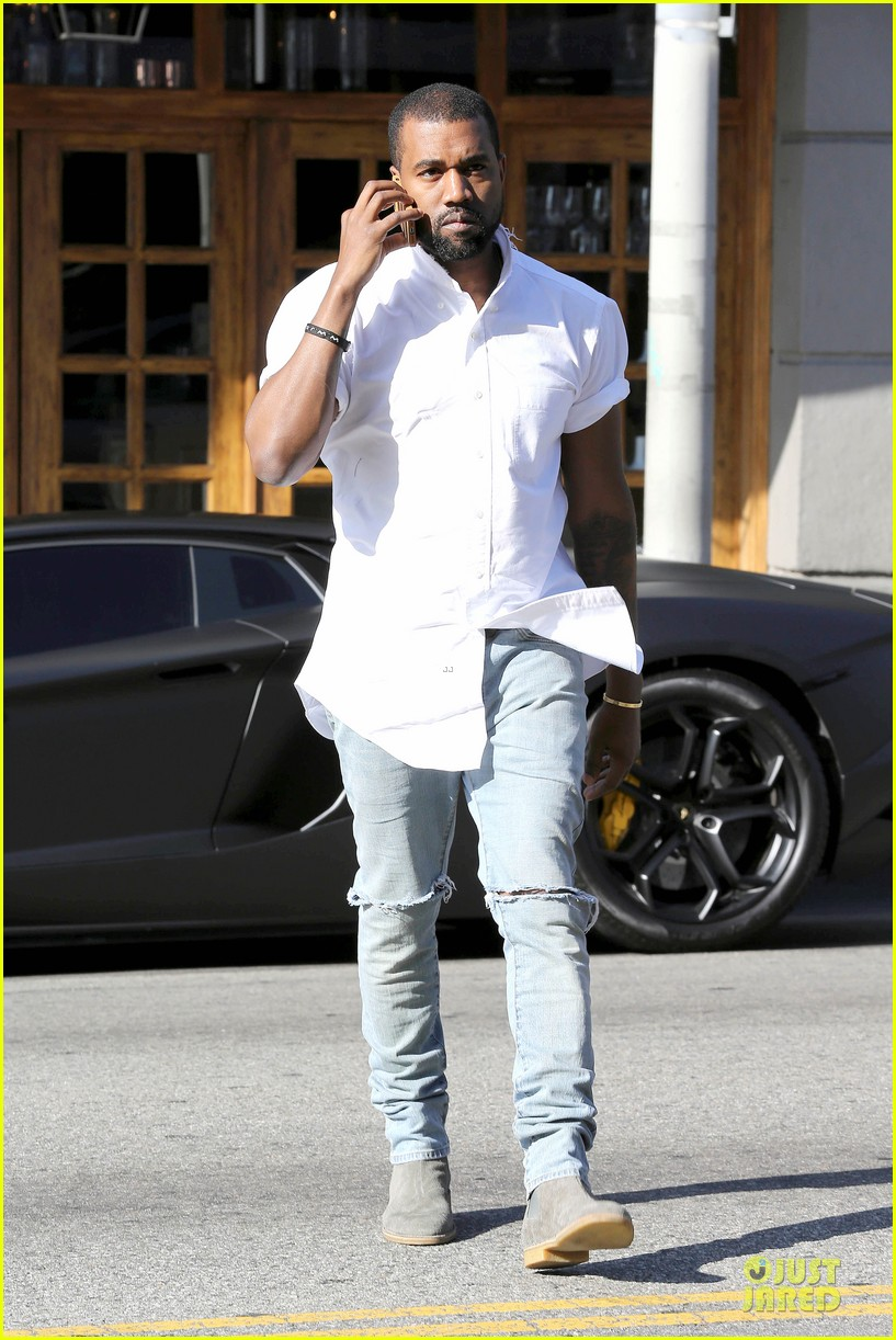 kim kardashian kanye west bright saturday outings 06