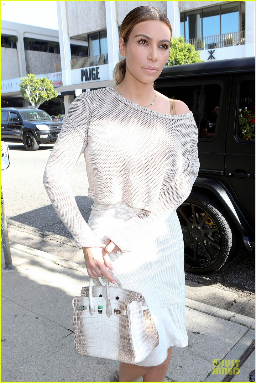kim kardashian kanye west bright saturday outings 15