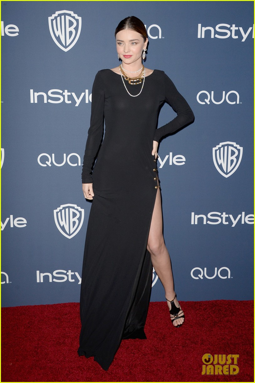 miranda kerr rocks full body slit at golden globes party 2014 12