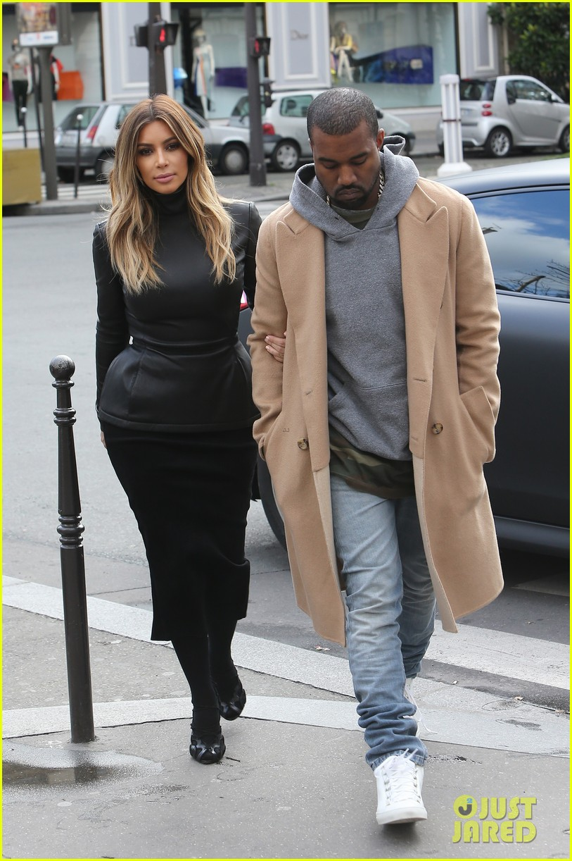 kim kardashian kanye west lunch lovers in paris 01