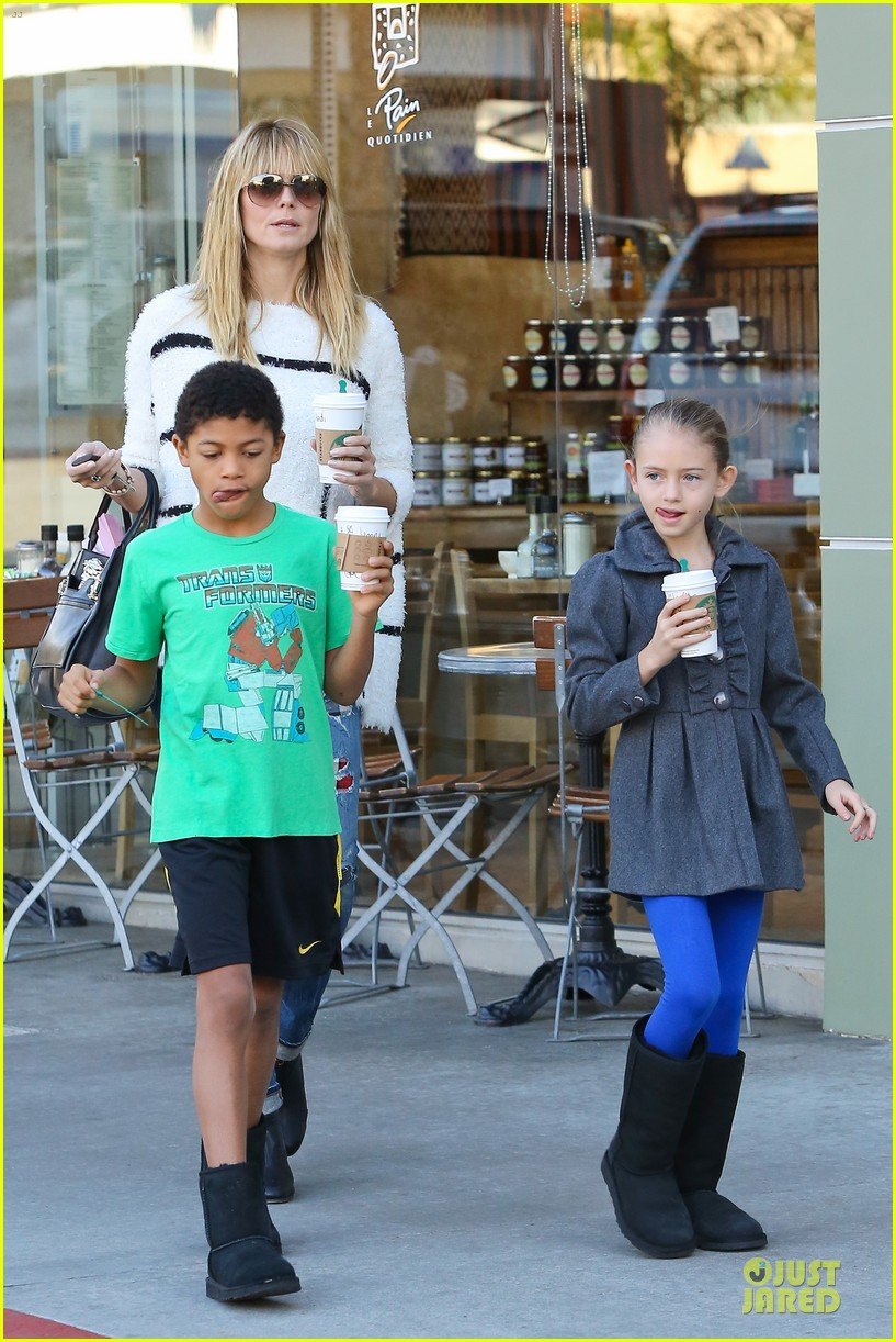 heidi klum grabs coffee before jag gym stop with the kids 28