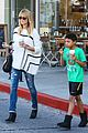 heidi klum grabs coffee before jag gym stop with the kids 16