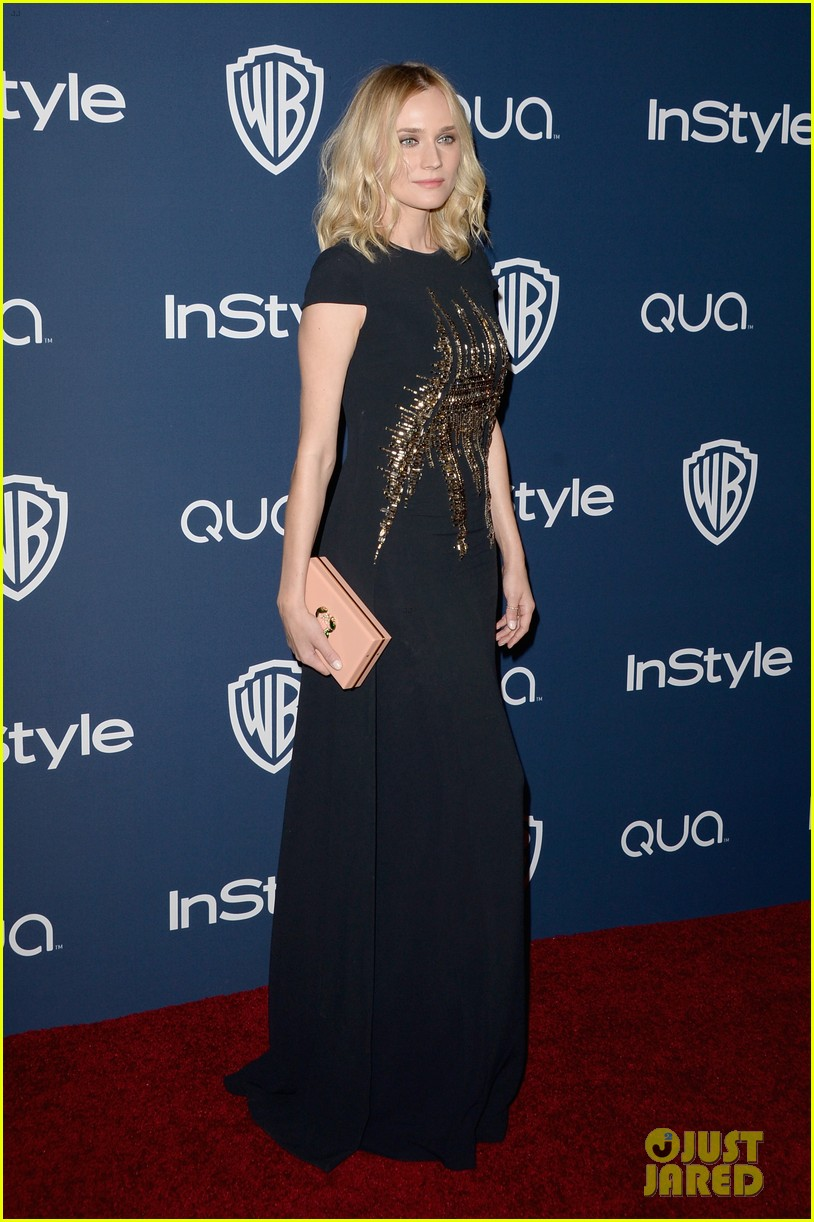 diane kruger instyle golden globes party 2014 01