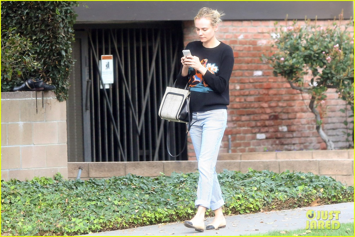 diane kruger wears no makeup looks fresh faced for errand run 07