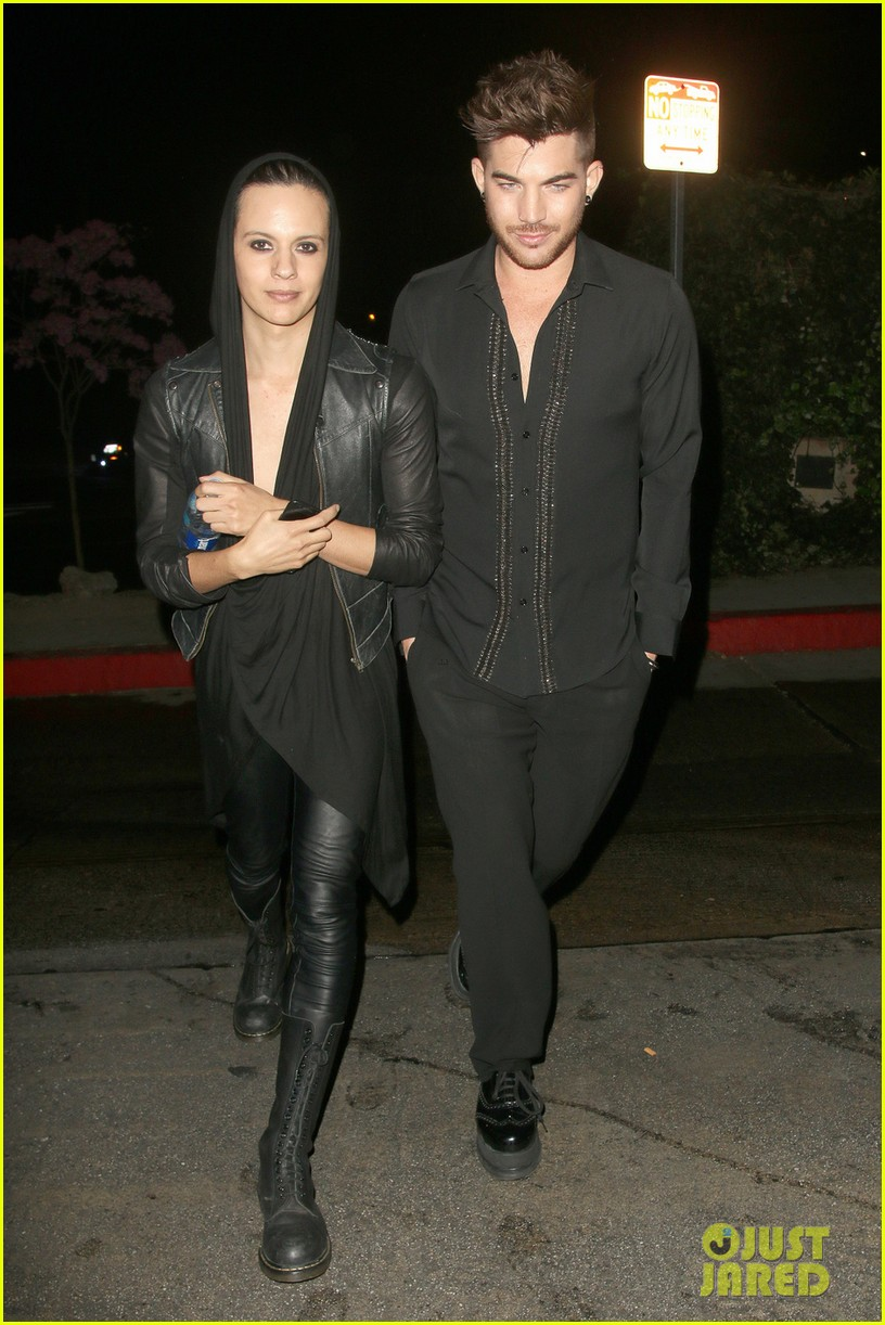 olivia munn adam lambert chateau marmont night out 053042052