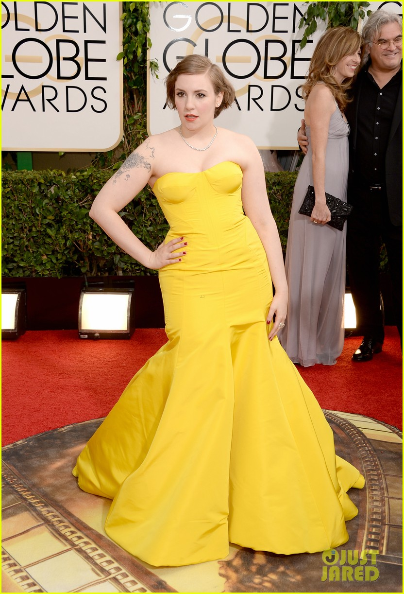 lena dunham golden globes 2014 red carpet 043029142