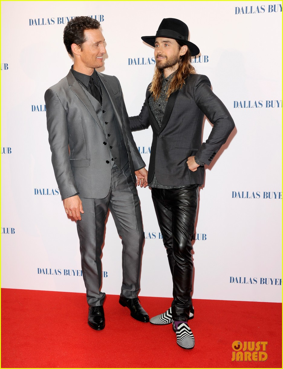 matthew mcconaughey jared leto reunite for dallas buyers club uk premiere 043043614