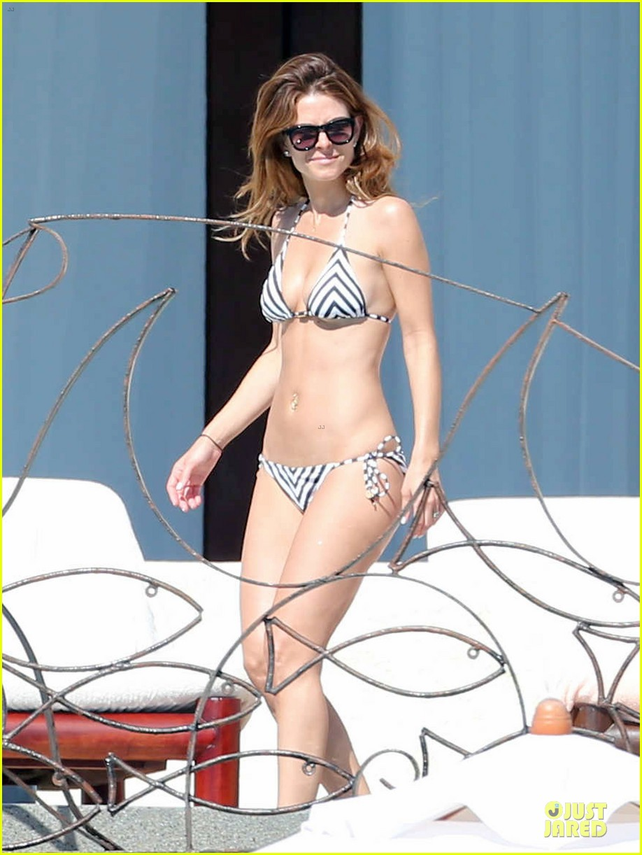 maria menounos black white bikini in cabo san lucas 053022549