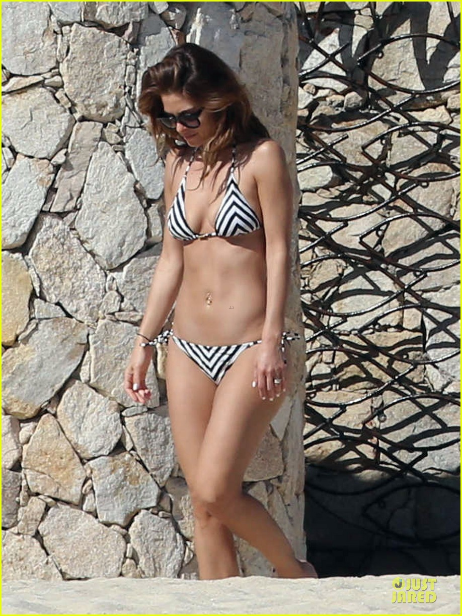 maria menounos black white bikini in cabo san lucas 143022558