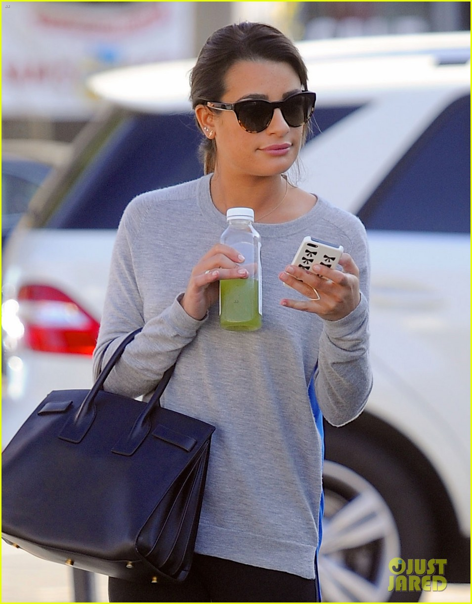 lea michele picks up juice before fun morning on glee 05