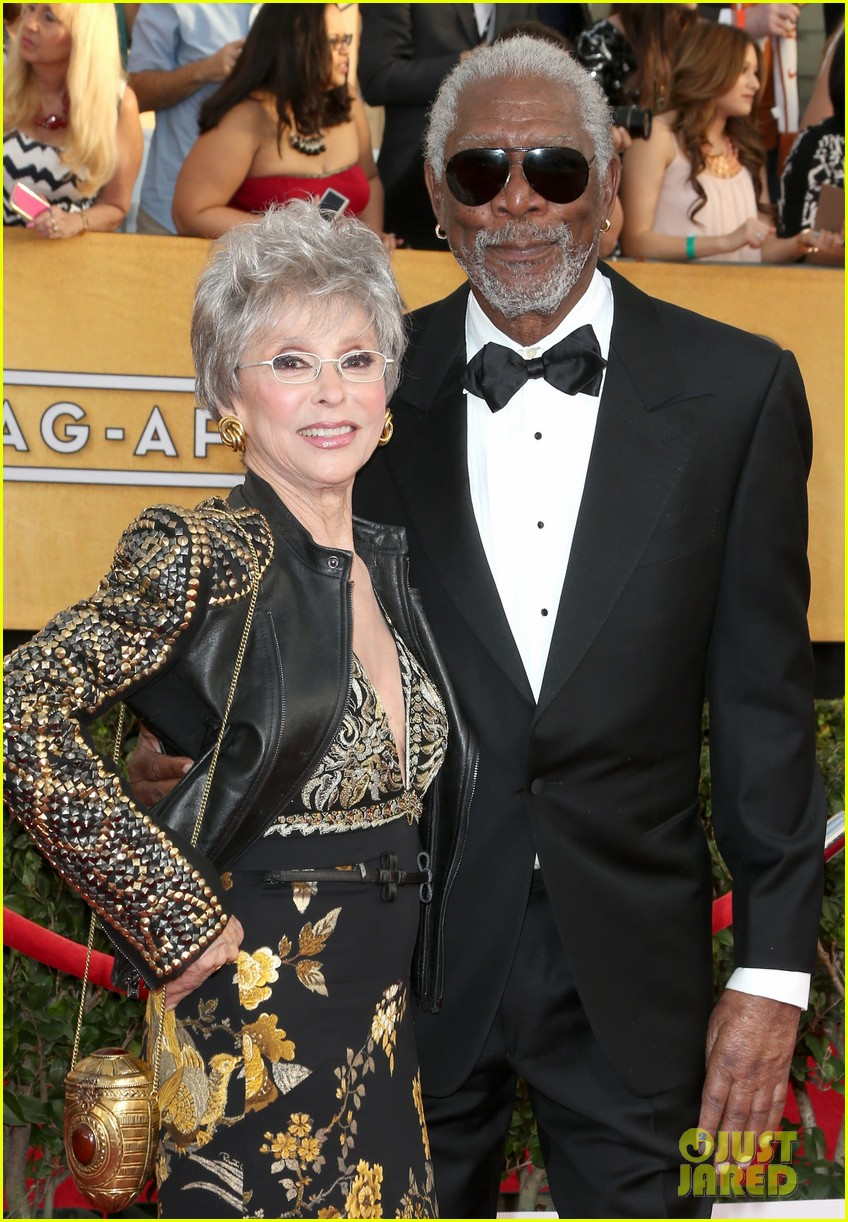 morgan freeman rita moreno sag awards 2014 red carpet 01