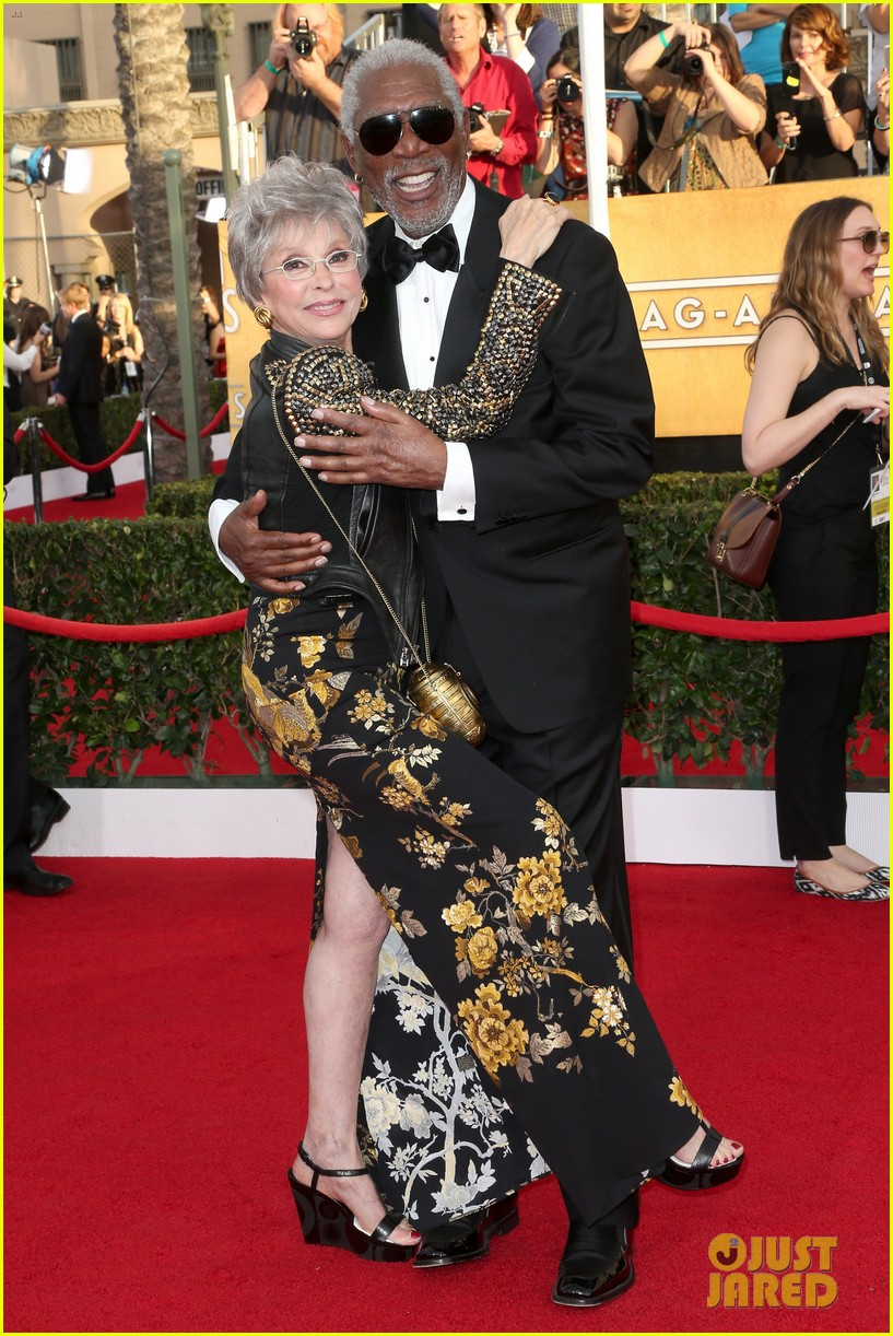 morgan freeman rita moreno sag awards 2014 red carpet 02