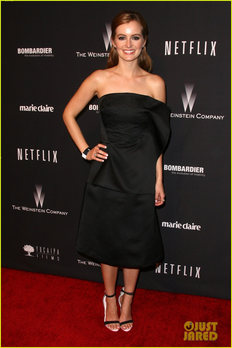 ahna oreilly melonie diaz weinstein golden globes party 2014 15