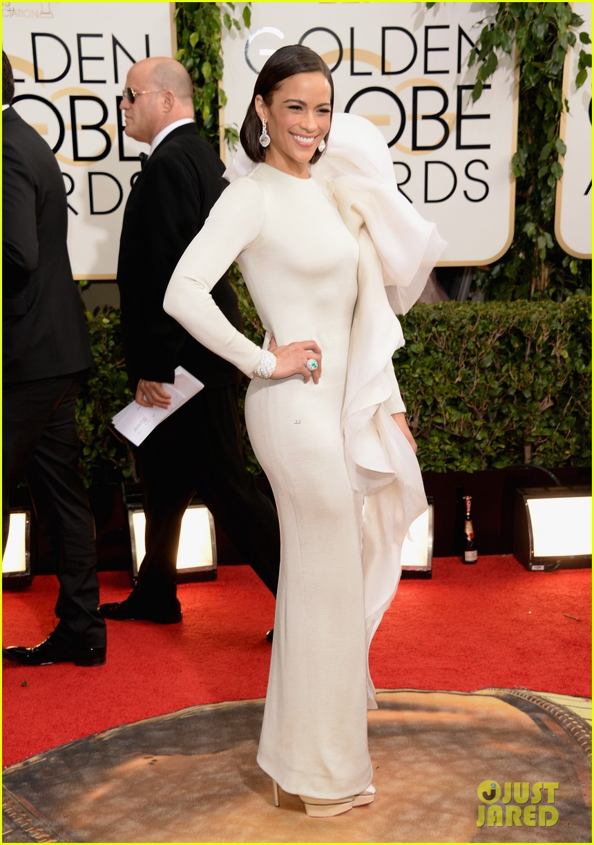 paula patton golden globes 2014 red carpet 033029353