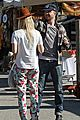aaron paul wife lauren kiss cuddle at the flea market 01