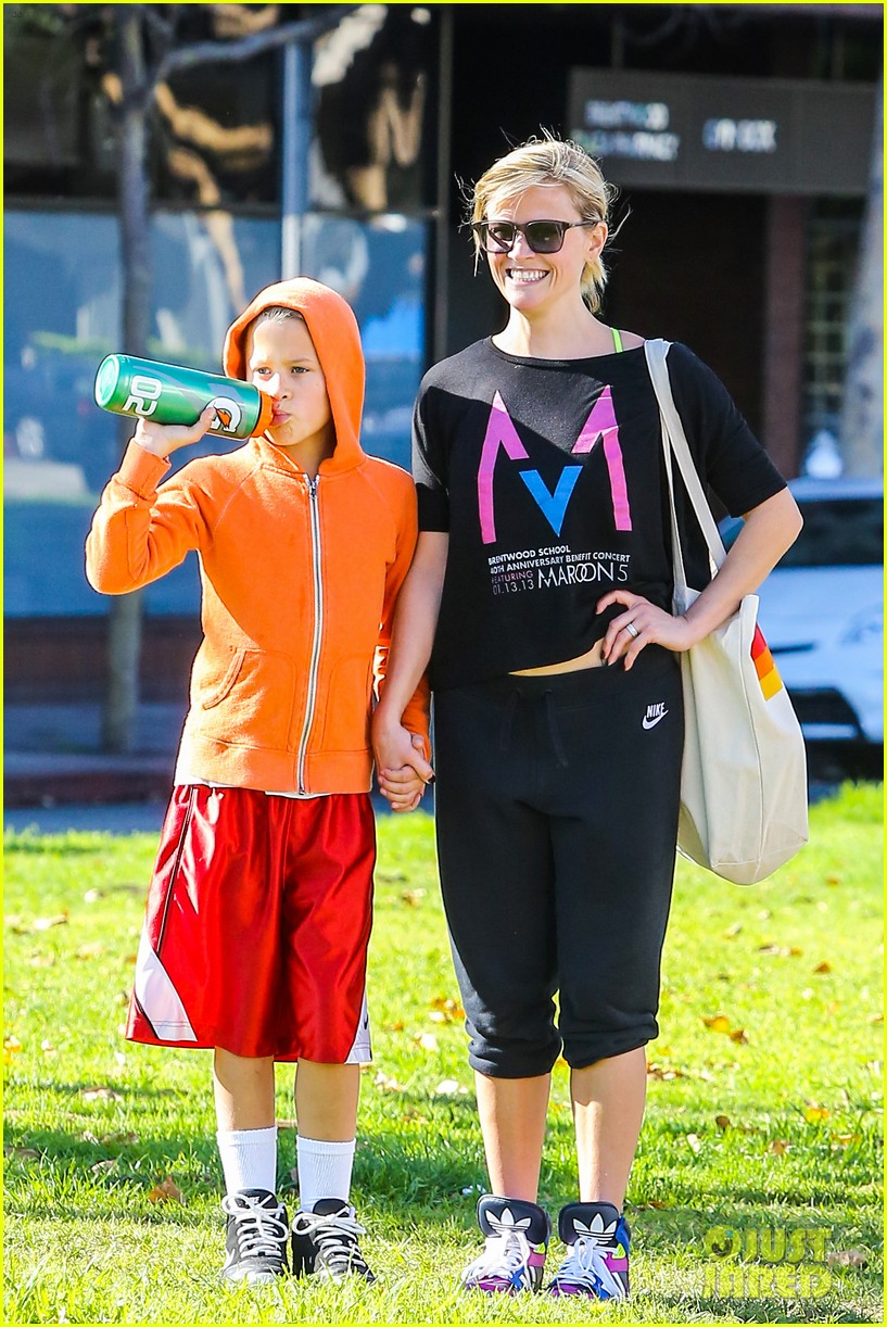 reese witherspoon busy saturday with son deacon 12