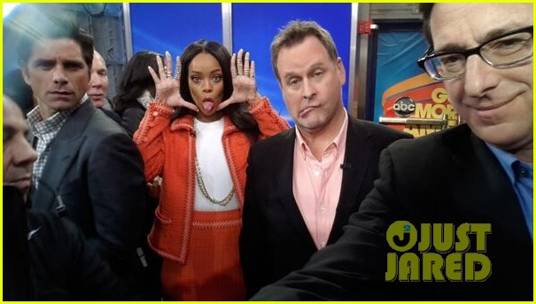rihanna braves winter chill for good morning america interview 02