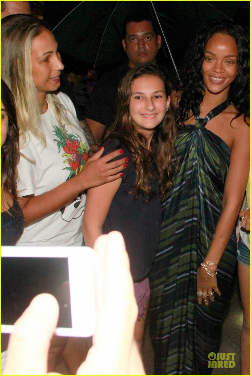 rihanna gold bikini beach babe in brazil 04