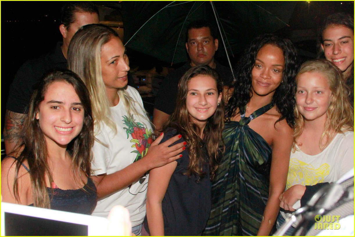 rihanna gold bikini beach babe in brazil 073036005