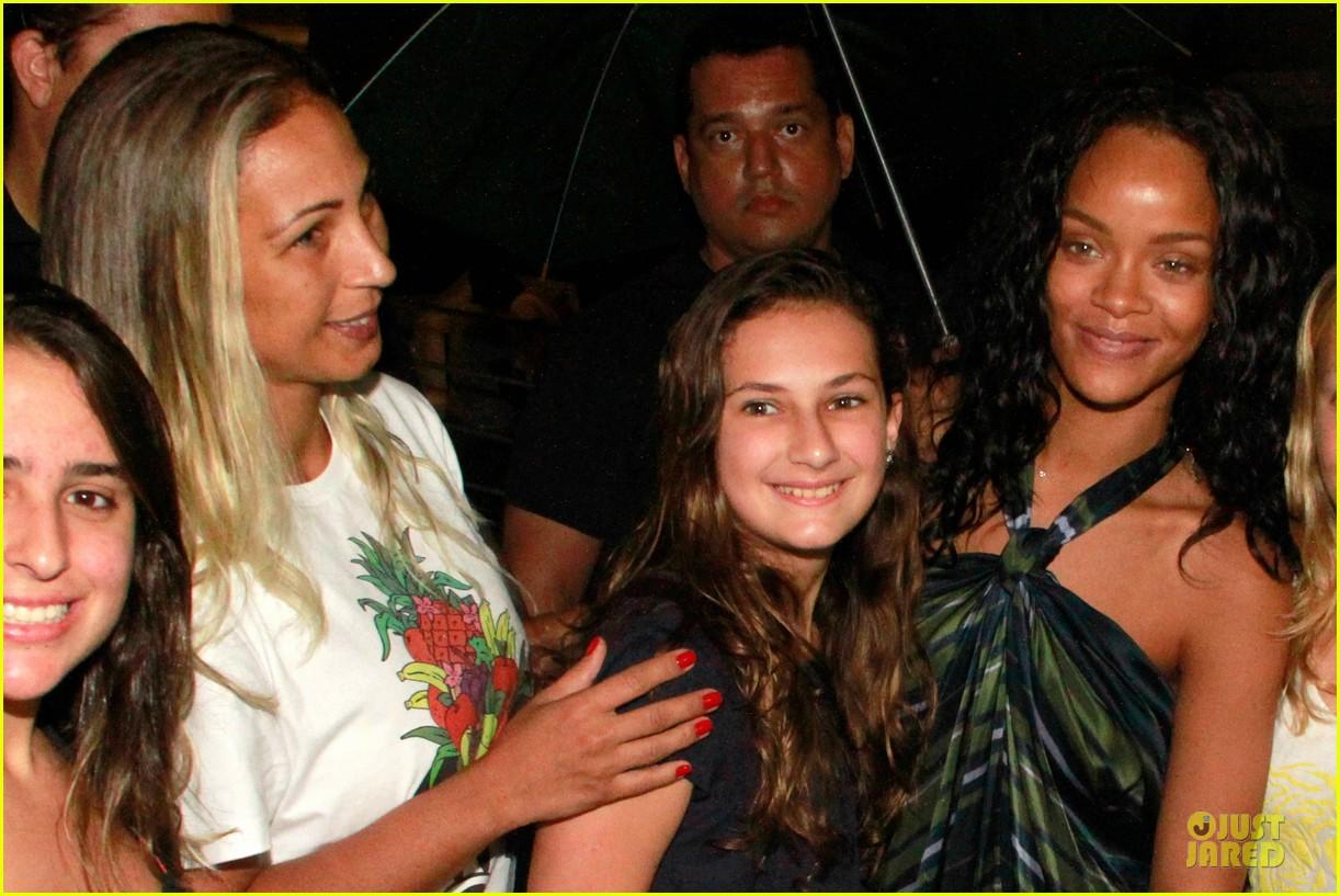 rihanna gold bikini beach babe in brazil 11