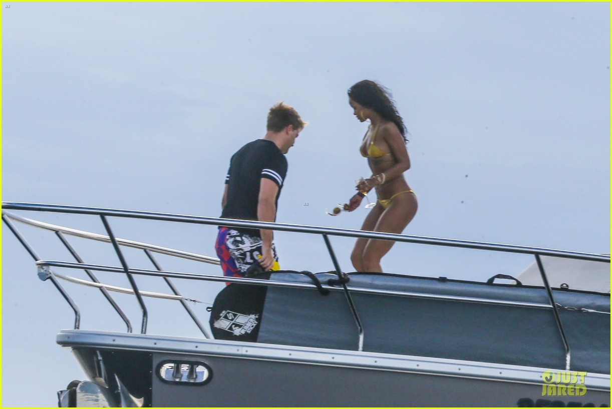 rihanna gold bikini beach babe in brazil 29