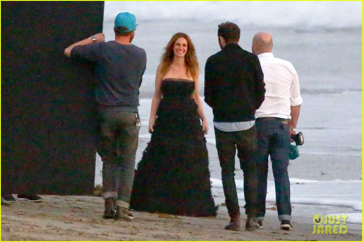 julia roberts wears elegant gown for beach photo shoot 213043862