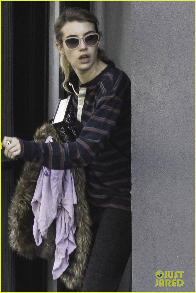 emma roberts evan peters step out together after engagement 04