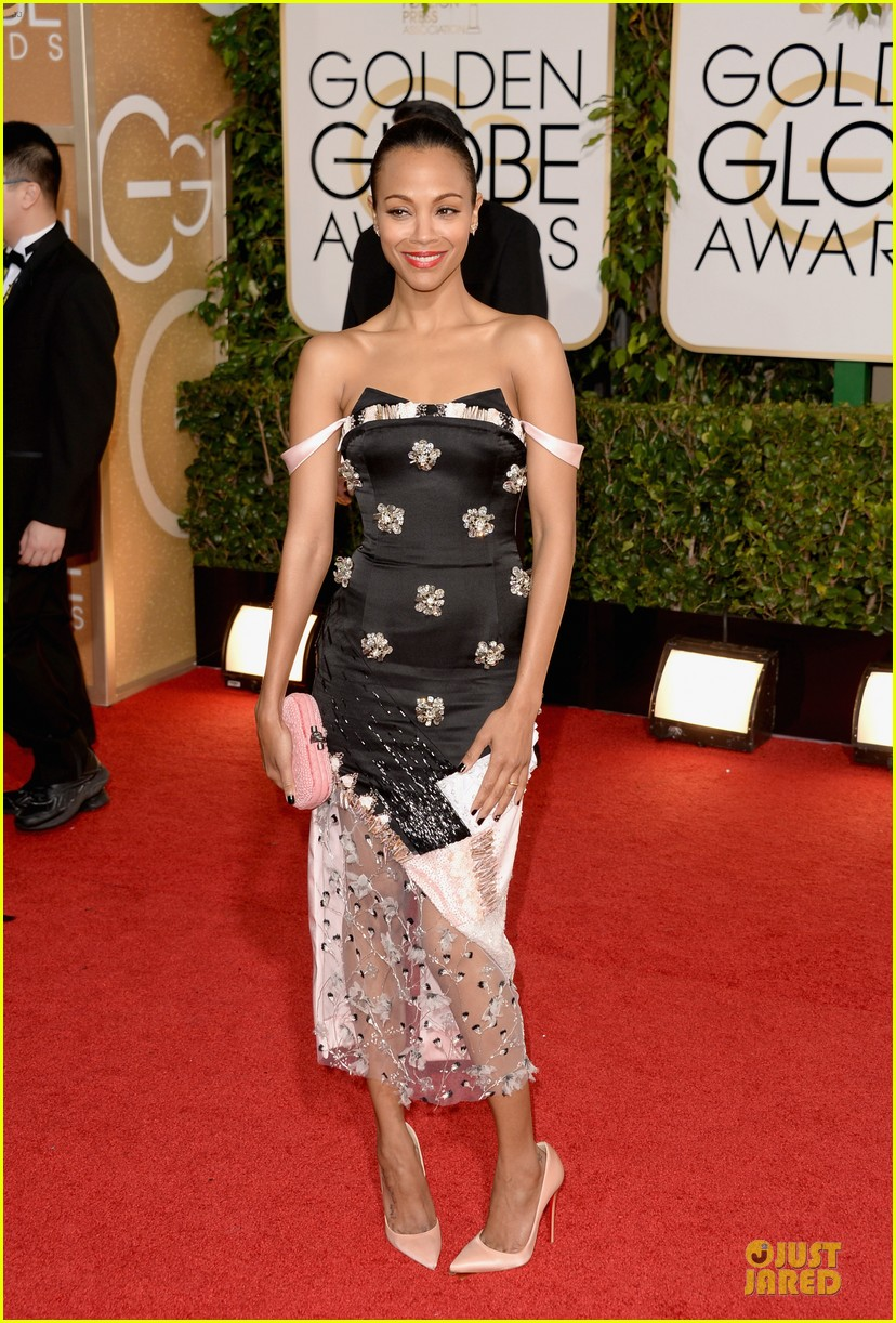 zoe saldana globen globes 2014 red carpet 03