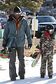 seal spends first day of 2014 snowboarding with the kids 01
