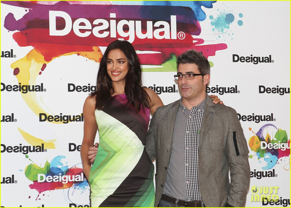 irina shayk presents new desigual campaign in spain 073042233