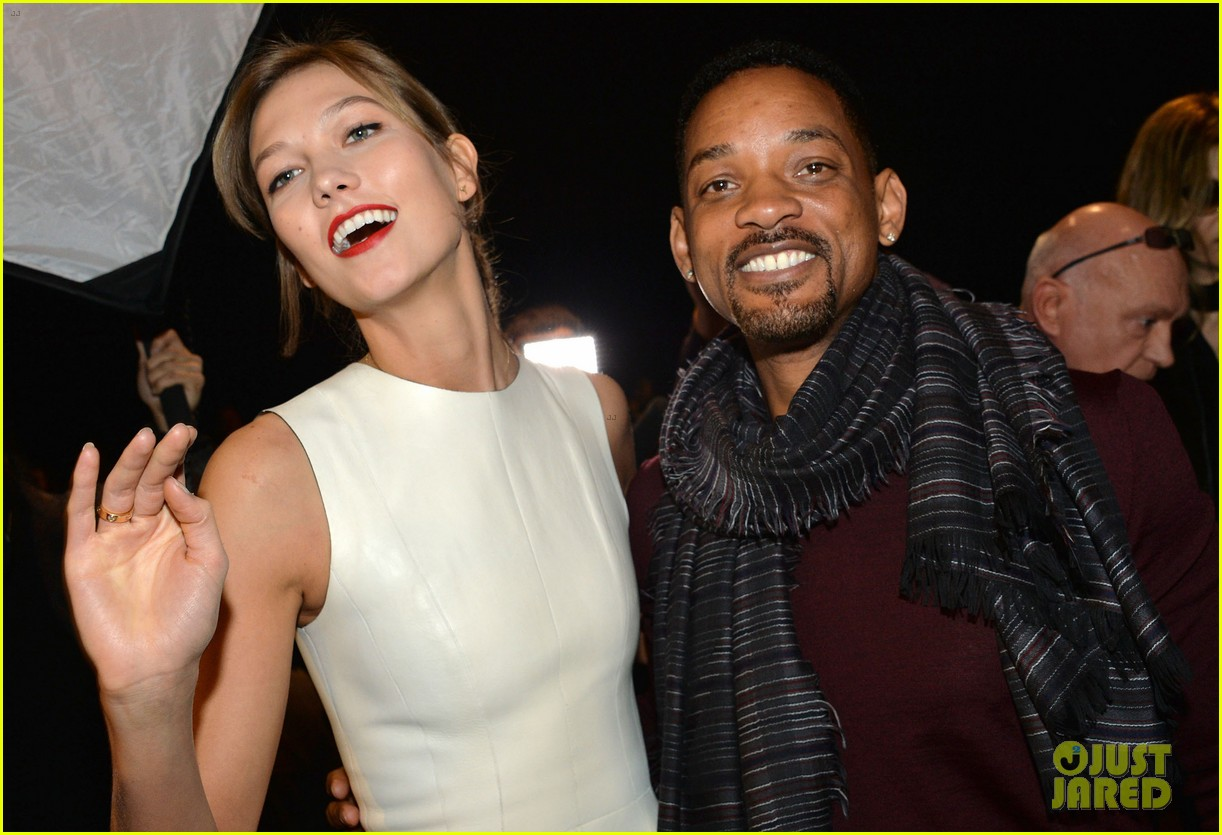 will smith karlie kloss dior homme fashion show 133035272