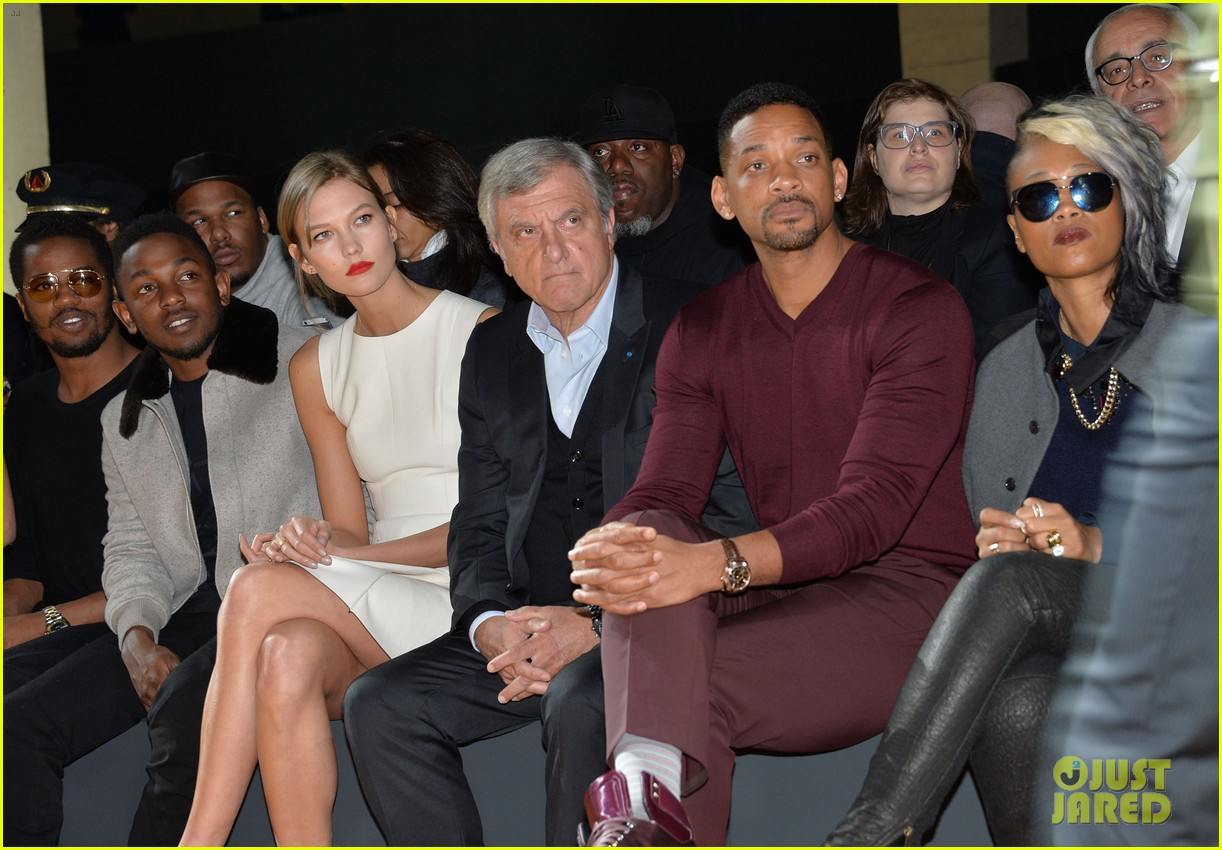 will smith karlie kloss dior homme fashion show 19