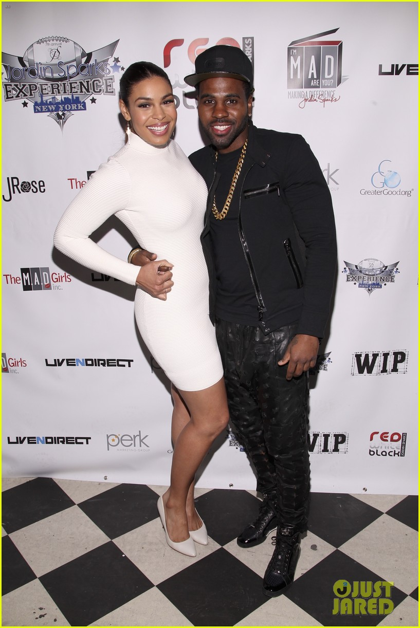 jordin sparks jason derulo red white black super bowl party 023044116