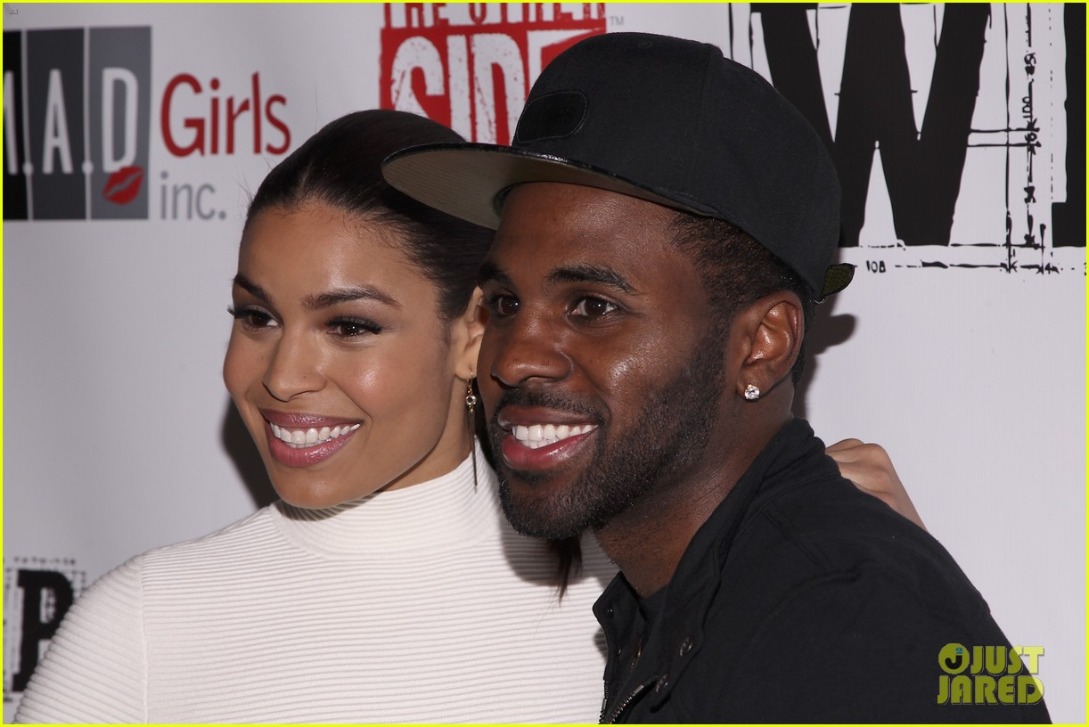 jordin sparks jason derulo red white black super bowl party 053044119