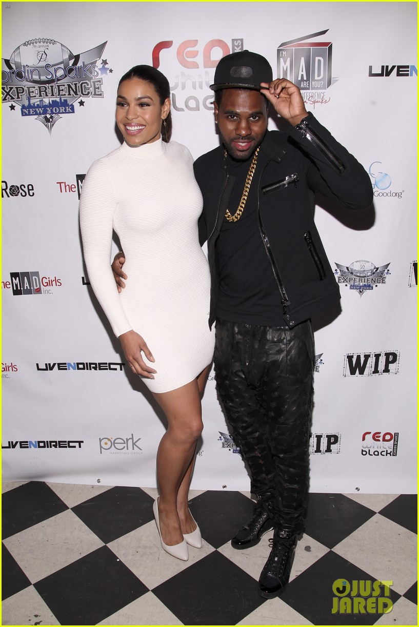 jordin sparks jason derulo red white black super bowl party 06