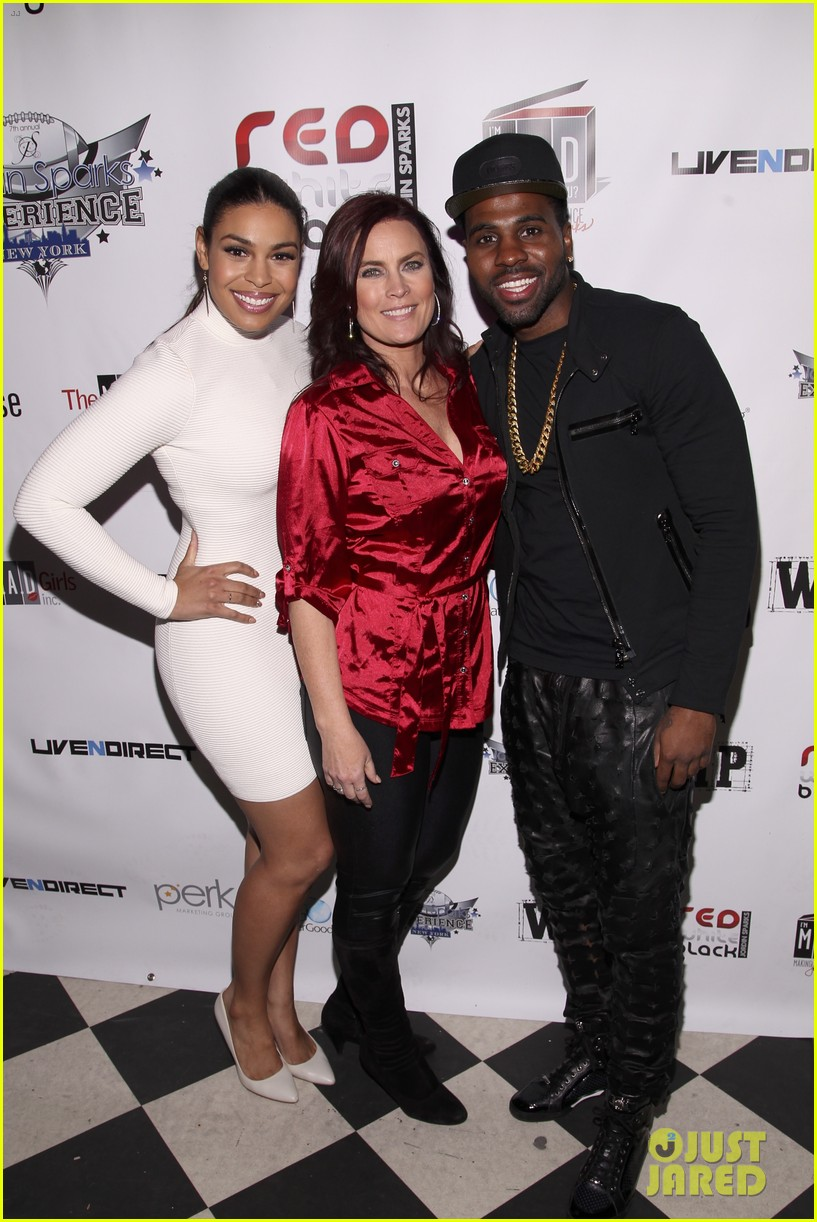 jordin sparks jason derulo red white black super bowl party 093044123