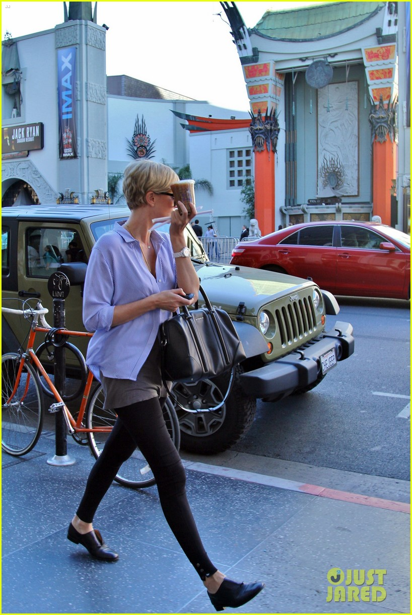 charlize theron picks up coffee on hollywood boulevard 063032235