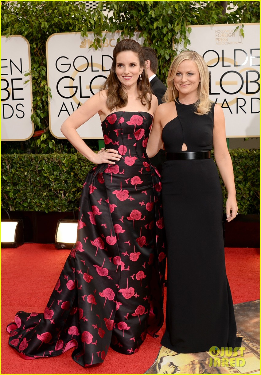 amy poehler tina fey golden globes 2014 red carpet 053029167