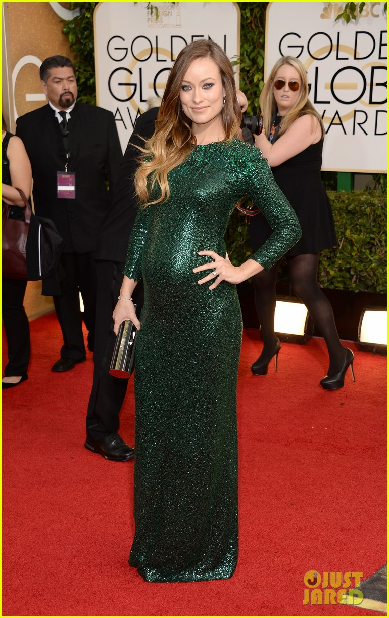 olivia wilde golden globes 2014 red carpet 073029306