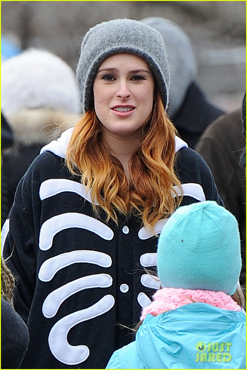 rumer willis wears skeleton onesies for songbyrd 03