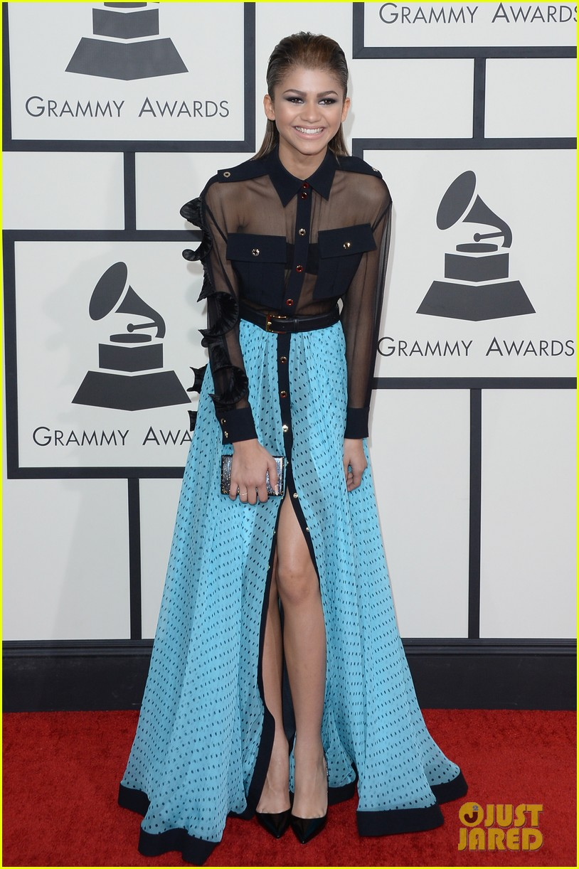 zendaya roshon fegan grammys 2014 red carpet 033041497