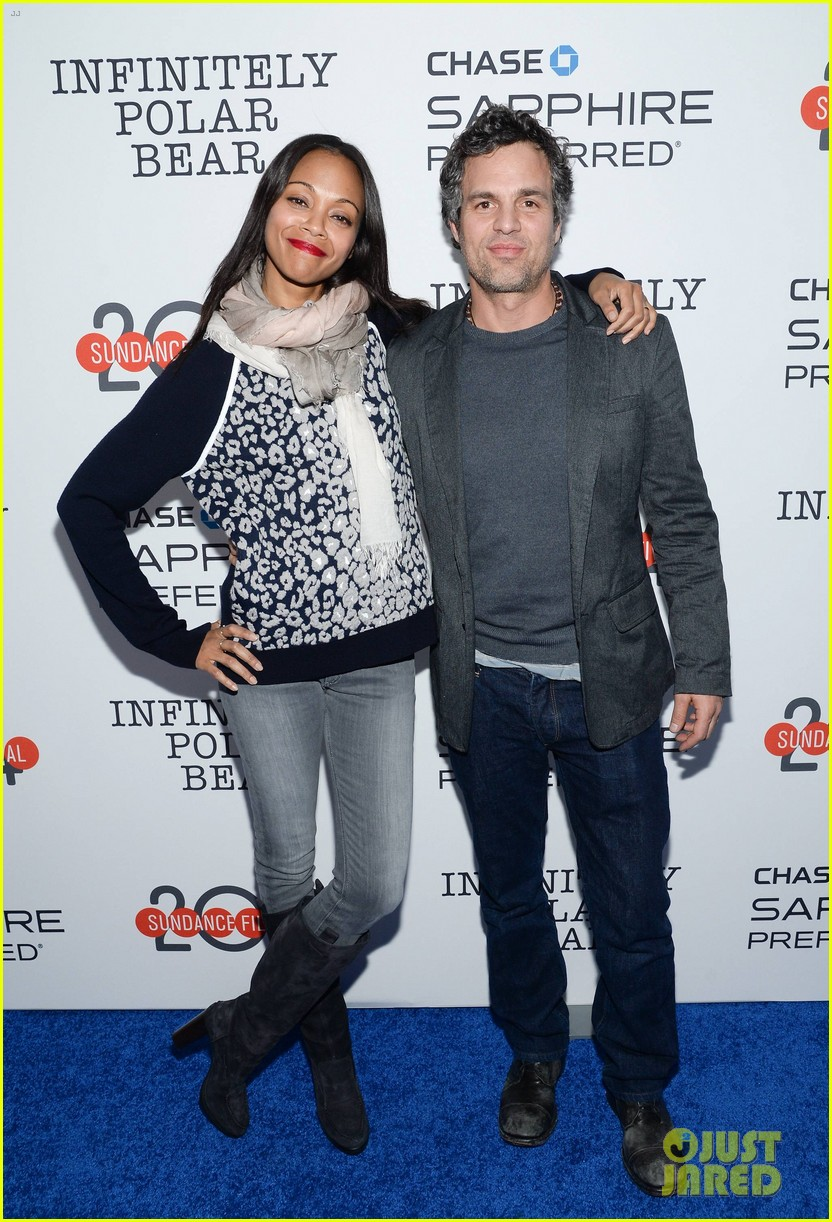 zoe saldana mark ruffalo infinitely polar bear sundance after party 03