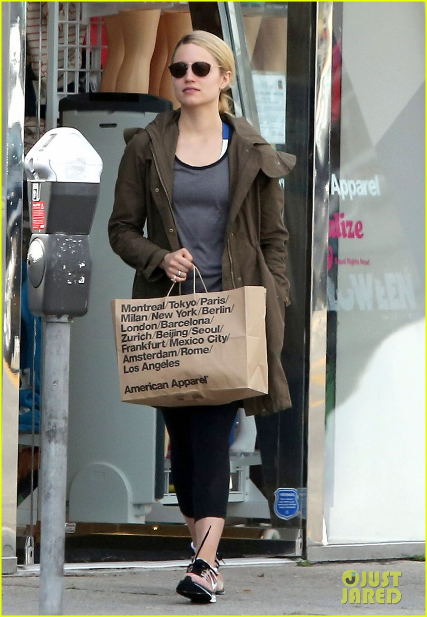 dianna agron gets her shop on at american apparel 01