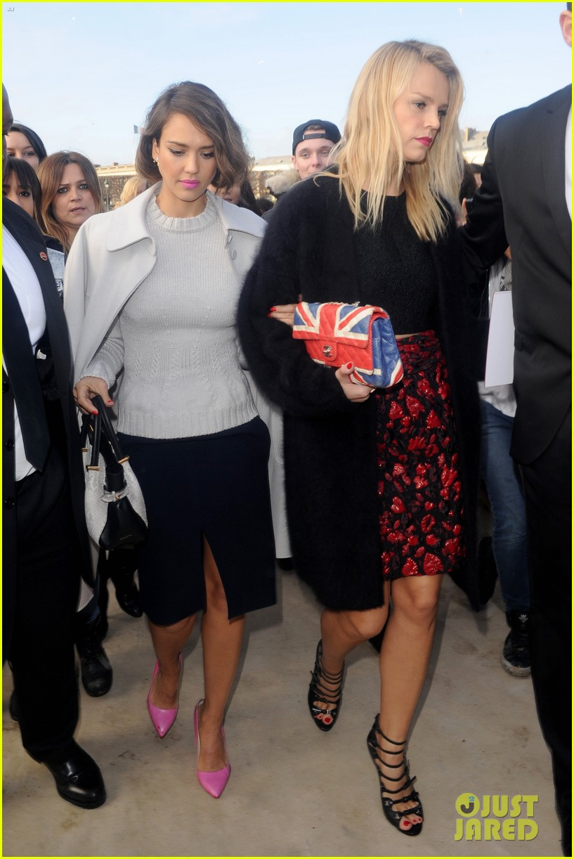 jessica alba attends nina ricci show with bff kelly sawyer 183061749