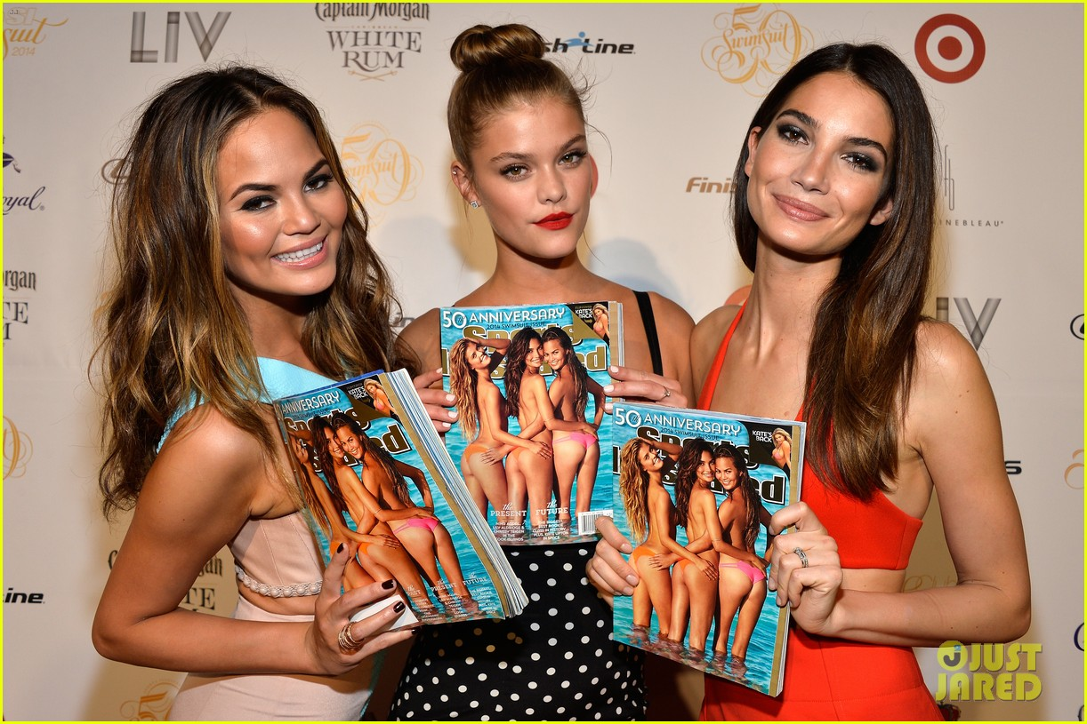 lily aldridge chrissy teigen nina agdal sports illustrated celebration in miami 083056725