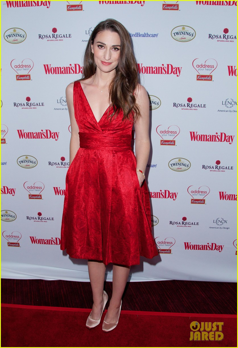 sara bareilles puts on her little red dress for womans day 18