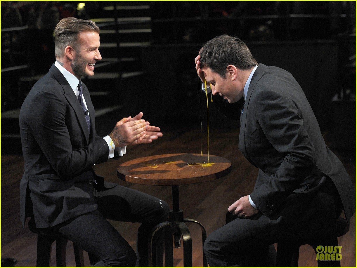 david beckham rocks yolk for egg russian roulette on fallon 153045174